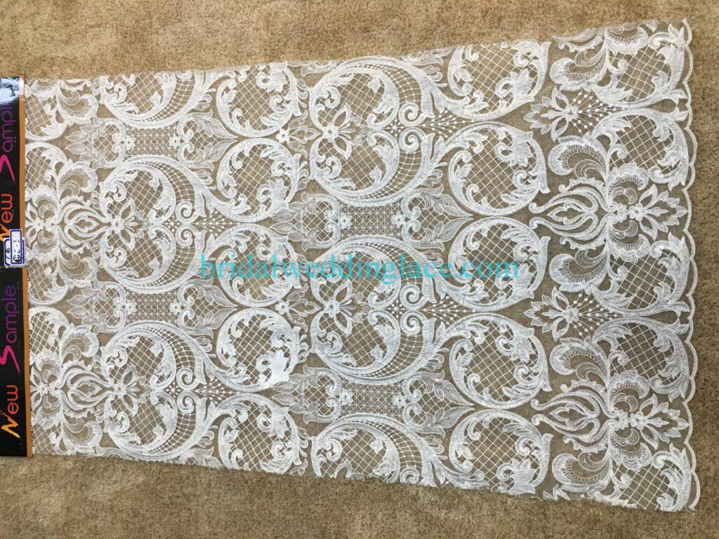 #20083129 Quality Embroidery Corded Bridal Lace Fabrics