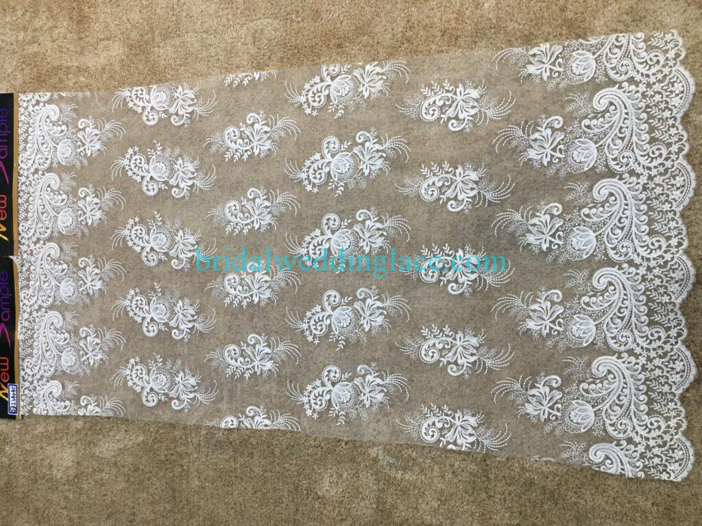#20083128 Quality Embroidery Corded Bridal Lace Fabrics