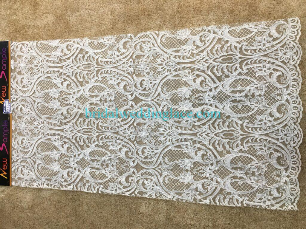 #20083127 Quality Embroidery Corded Bridal Lace Fabrics