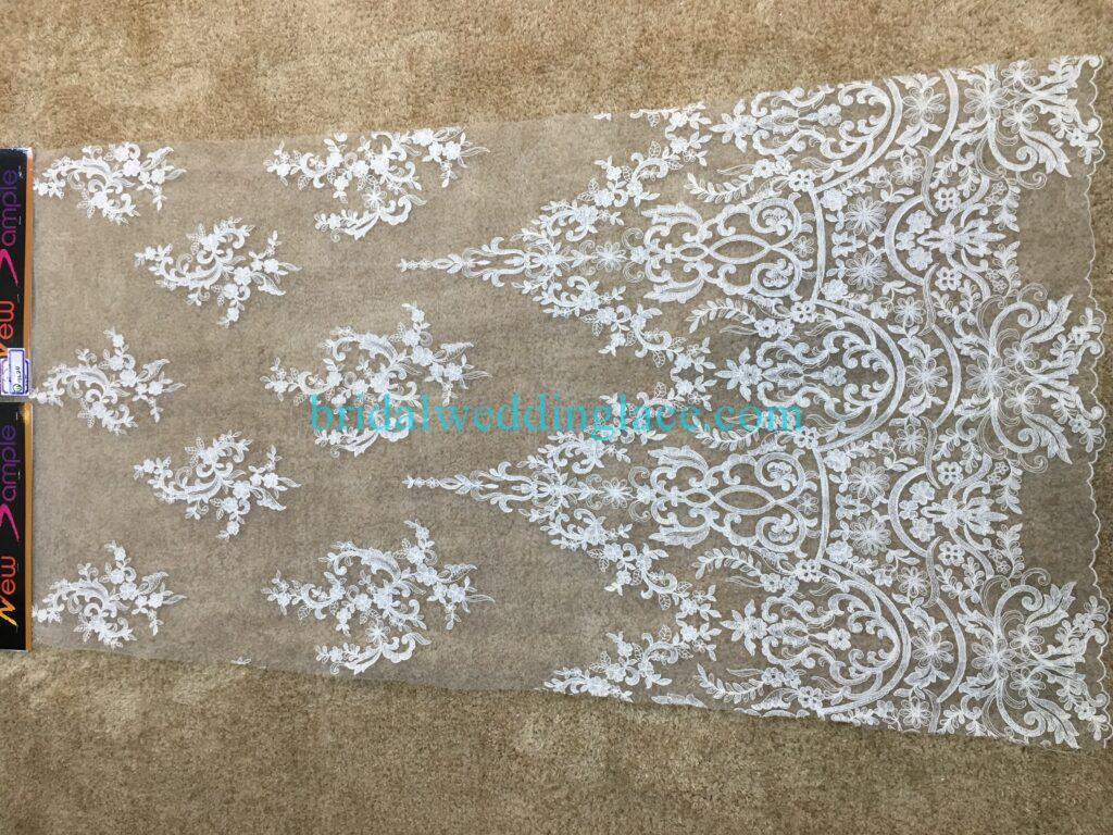 #20083126 Quality Embroidery Corded Bridal Lace Fabrics
