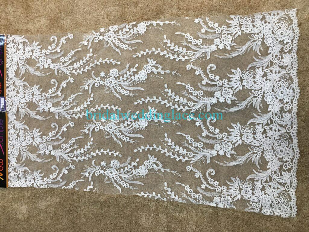 #20083124 Quality Embroidery Corded Bridal Lace Fabrics
