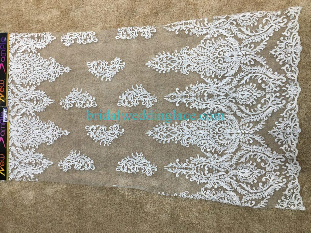 #20083122 Quality Embroidery Corded Bridal Lace Fabrics