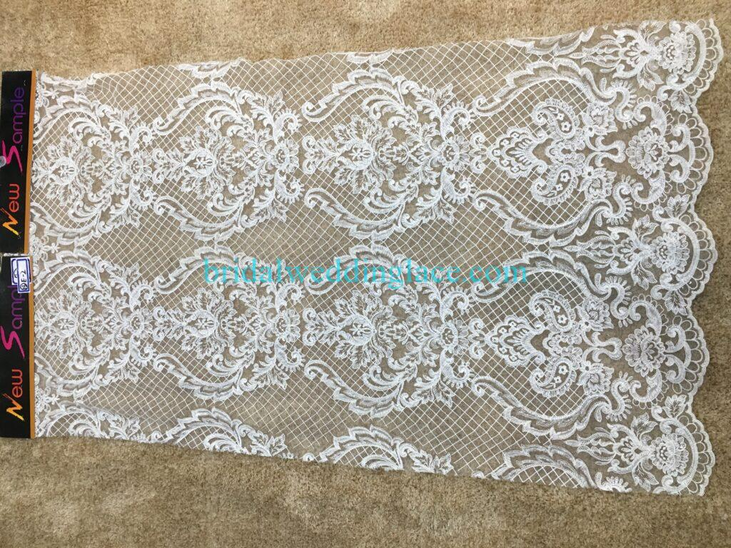 #20083119 Quality Embroidery Corded Bridal Lace Fabrics